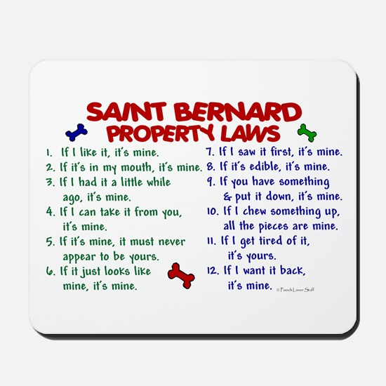 Saint Bernard Property Laws 2 Mousepad