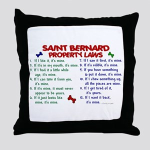 Saint Bernard Property Laws 2 Throw Pillow