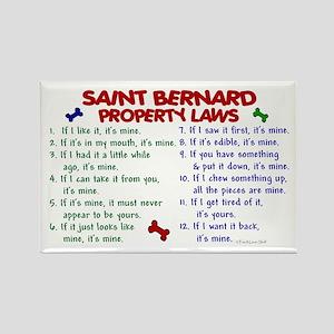Saint Bernard Property Laws 2 Rectangle Magnet