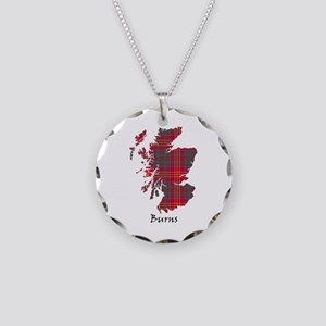 Map - Burns Necklace Circle Charm
