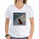 WILD SIDE/DARE WHALE Women's V-Neck T-Shirt