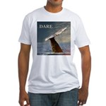WILD SIDE/DARE WHALE Fitted T-Shirt