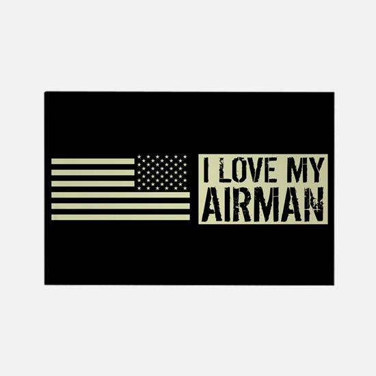 U.S. Air Force: I Love My Airman Rectangle Magnet