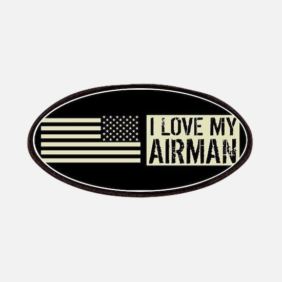 U.S. Air Force: I Love My Airman (Black Flag Patch