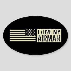 U.S. Air Force: I Love My Airman (B Sticker (Oval)