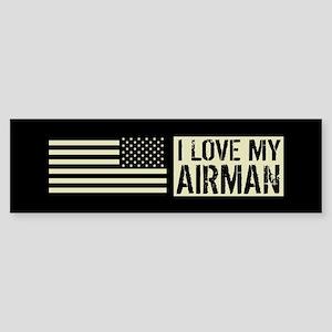 U.S. Air Force: I Love My Airman Sticker (Bumper)
