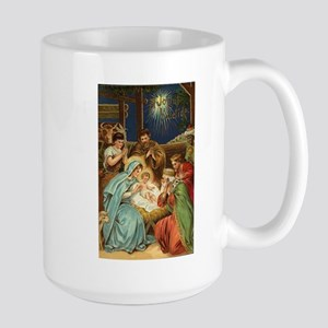 Nativity Scene with Three Kings Mugs