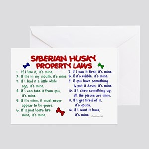 Siberian Husky Property Laws 2 Greeting Card
