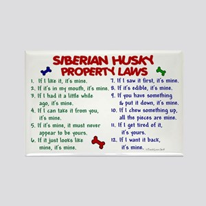 Siberian Husky Property Laws 2 Rectangle Magnet