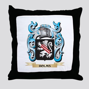 Holms Coat of Arms - Family Crest Throw Pillow