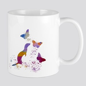 Ferret and buttterflies Mugs