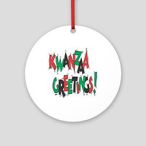 Kwanzaa Greetings Ornament (Round)