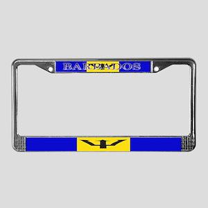 Barbados Blank Flag License Plate Frame