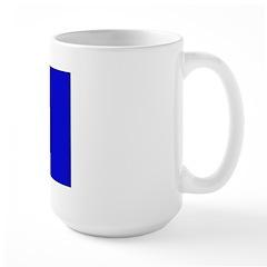 Barbados Blank Flag Large Mug