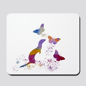 Ferret and buttterflies Mousepad