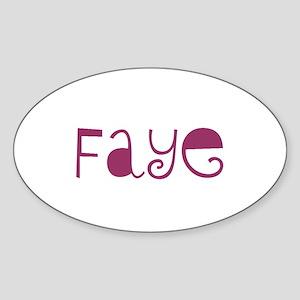 Faye Oval Sticker