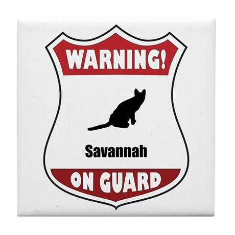 Savannah On Guard Tile Coaster