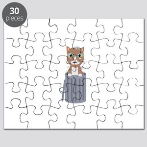 Cute Cat In the trash can Puzzle