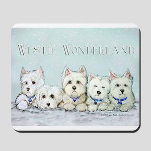 Westie Wonderland Mousepad