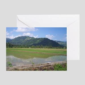 Mountain Paddy at Pres Roxas Greeting Card