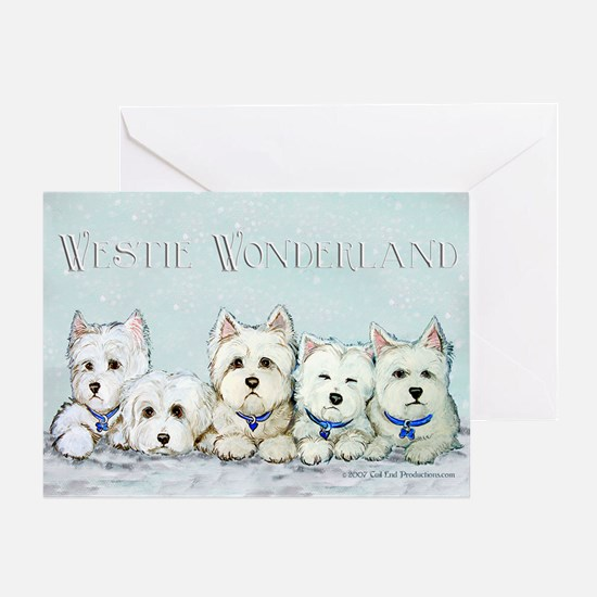 Westie Wonderland Greeting Card