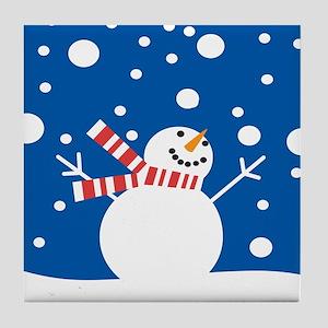 Holiday Snowman Tile Coaster