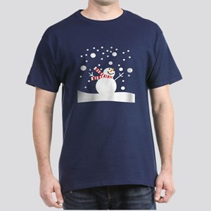 Holiday Snowman Dark T-Shirt