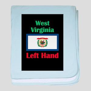 Left Hand West Virginia baby blanket