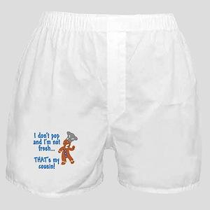 I don't pop funny gingerbreadman Boxer Shorts