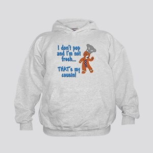 I don't pop funny gingerbreadman Kids Hoodie