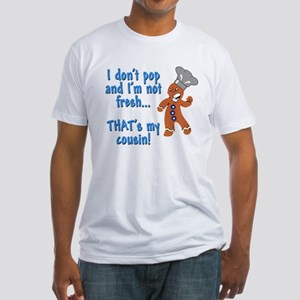 I don't pop funny gingerbreadman Fitted T-Shirt