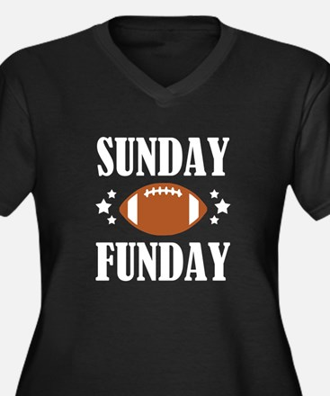Sunday Funday funny football shi Plus Size T-Shirt