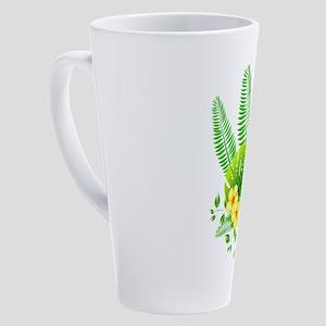 tropical 17 oz Latte Mug