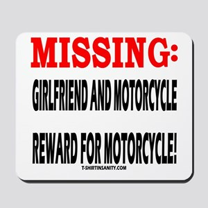 MISSING GIRLFRIEND AND MOTORC Mousepad