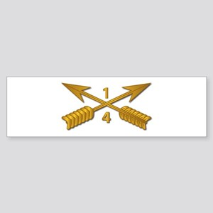 4th Bn 1st SFG Branch wo Txt Sticker (Bumper)