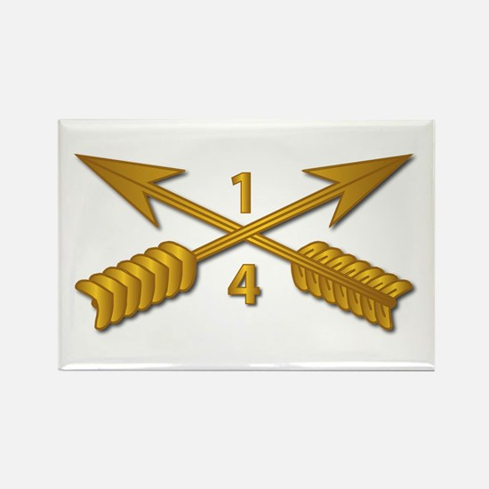 4th Bn 1st SFG Branch wo Txt Rectangle Magnet