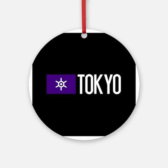 Tokyo: Tokyo Metropolis Flag & Toky Round Ornament