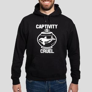 Captivity is Cruel, Free the Orca Wh Hoodie (dark)