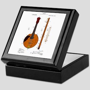 Mandolin Patent Keepsake Box