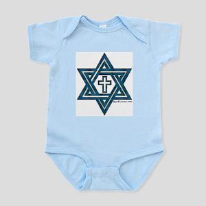 Star Of David & Cross Infant Creeper