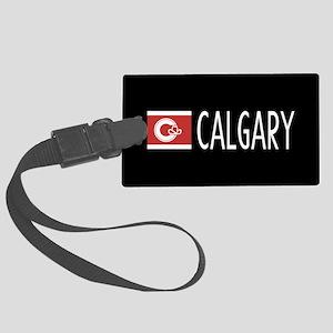 Calgary: Calgarian Flag & Calgar Large Luggage Tag