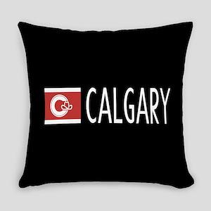 Calgary: Calgarian Flag & Calgary Everyday Pillow