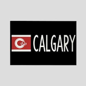 Calgary: Calgarian Flag & Calgary Rectangle Magnet