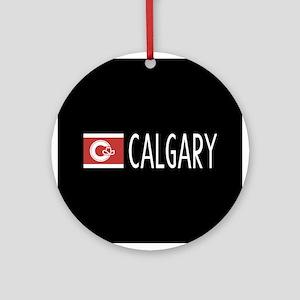 Calgary: Calgarian Flag & Calgary Round Ornament