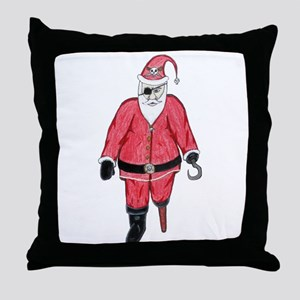 Pirate Santa Throw Pillow