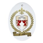 GERVAIS Family Crest Oval Ornament