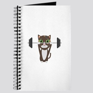 Fitness cat weight lifting Journal