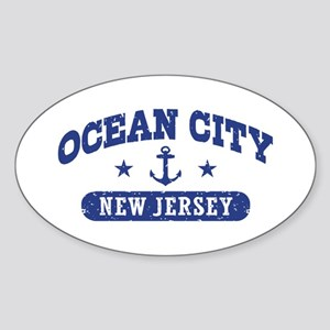 Ocean City NJ Sticker (Oval)