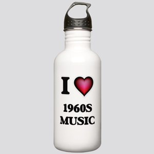 I Love 1960S MUSIC Stainless Water Bottle 1.0L