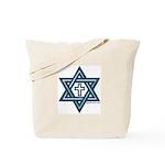 Star Of David & Cross Tote Bag